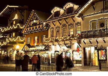 Alpine ski village - Holiday celebrations