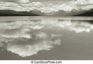 Lake McDonald--Homage to Ansel Adams - Photo of Lake...