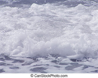 Waves with foam – a background