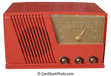 rojo, Retro, radio