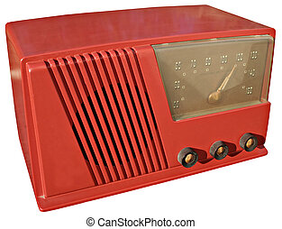 1950s radio - Funky red set