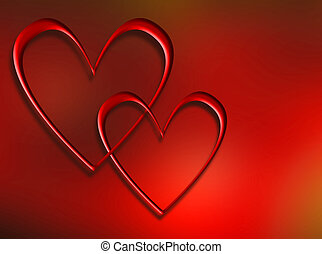 Interlocking hearts - Interlocking heart background