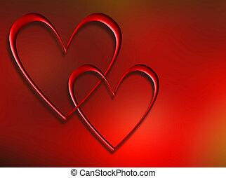 Interlocking hearts - Interlocking heart background