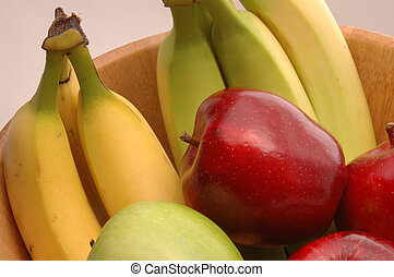 bananas apples green red 1 - green apples red delicious...