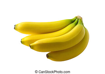 Bananas - a bunch of babanas on white background