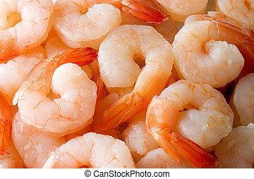 Shrimps - Cooked shrimps. Background.