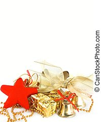 x-mas invitation - presents and ornaments isolated...
