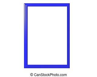Blue frame - Isolated blue frame
