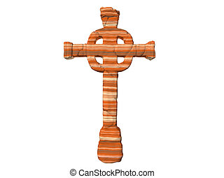 Sandstone Cross - Isolated sandstone cross