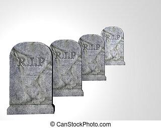 cuatro, Lápidas