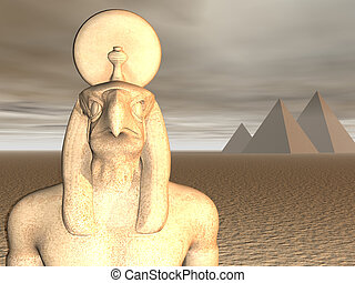 Egyptian God Horus - Statue of ancient egyptian god horus