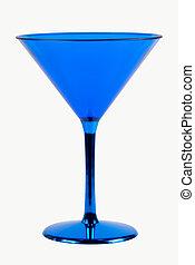 blå, glas