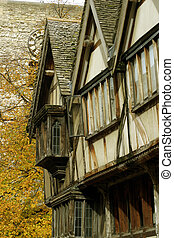 Medieval Oxford - A row of medieval houses in the centre of...