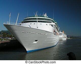 branca, cruzeiro, navio