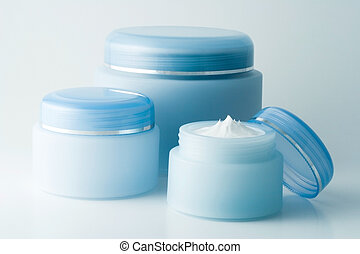 Cosmetic creams (1) - Containers of a different creams.