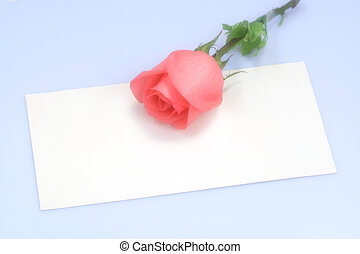 Rose On Paper - Rose On A Piece Of White Paper Rose On A...
