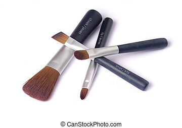 Four beauty brushes - travelling set of four make up brushes...