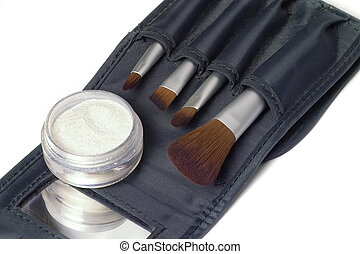 Beauty brushes - travel set of beauty brushes and glittering...