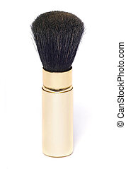 Powder brush - powder brush in golden case