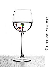 christmas wine glasses - christmas wine glass in backlight