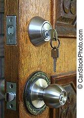 Double Deadlock Door - Double deadlocked wooden door for...