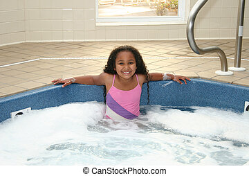 Child Hot Tub Smile