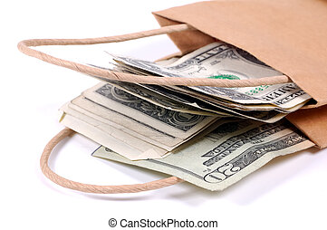 Bag of Money - Paper Bag With Money
