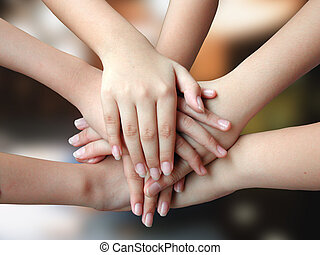 muitos, mãos, 4success