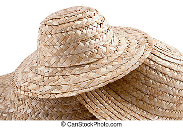 straw hat collection #2 - and abstract group of hats