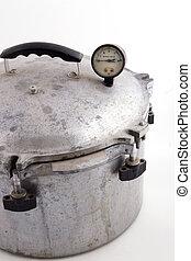 old pressure pot - a pressure cooking pot