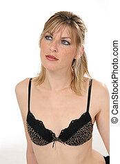 Woman with bra - Beautiful woman in lingerie