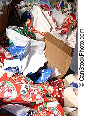 the aftermath - the presents are open and the clean up...
