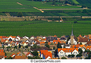 Country side - wine village on the south of Germany