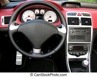 Car Interior - Interior Of A Sport Car