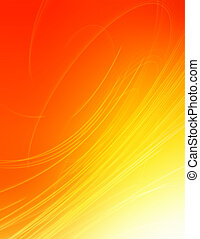 Swirling rays - Yellow and red swirling background