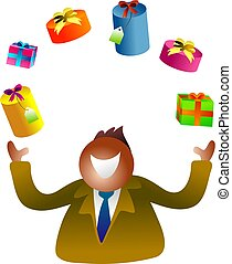 juggling gifts - icon people