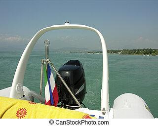 speedboat at the garda lake