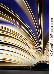 book - A book and a creative color lighting
