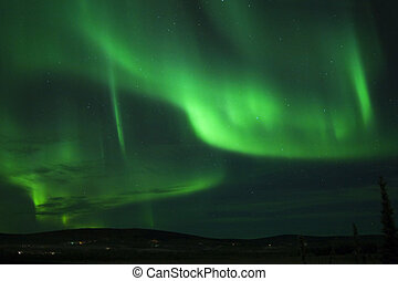 Christmas Eve Aurora 01 - Christmas Eve Aurora Borealis over...