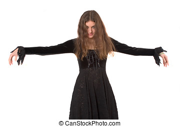 Bewitching - Lovely young woman in gothic clothing