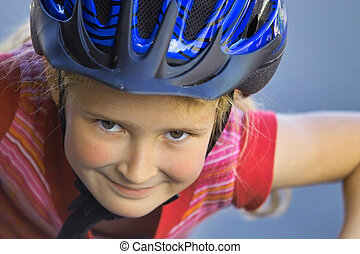 Catch me if you can - portrait of a girl riding the bike