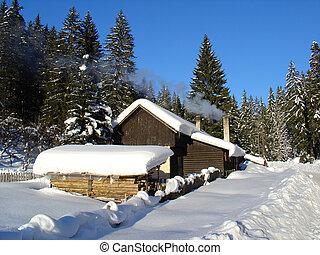 Hut In The Winter - Touristic Hut