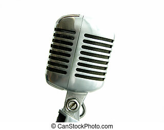 Vintage Microphone - The retro Shure Elvis Mic from the 50s...