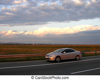 Car Peugeot 307 CC - Peugeot Coupe Cabrio Into The Sunset...