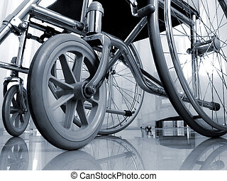 wheelchair - From a low perspective