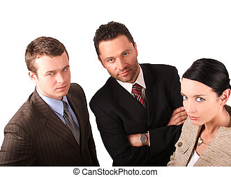 business team 4 - Group of 3 business people - isolated