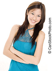 Model J4 - A pretty young asian model with a great smile