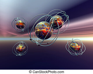 Anti Matter - 3D illustration, background, wallpaper of the...