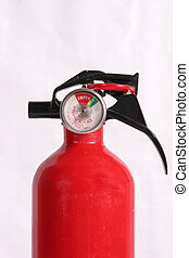 Fire extinguisher isolated with room for text