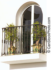 arched window - window with a balcony